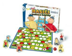 Obrázok Společenská hra v krabici Hasiči hadice a žebříky Pat a Mat