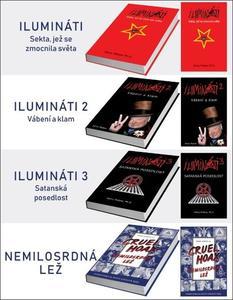 Obrázok Balíček 4 ks Ilumináti 1-3 + Nemilosrdná lež