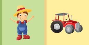 Obrázok Detská knižka Farmár Traktor
