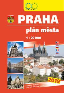 Obrázok Praha plán města 1:20T knižní 2019