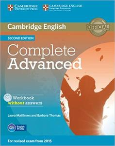 Obrázok Cambridge English Complete Advanced Workbook without answers Second edition