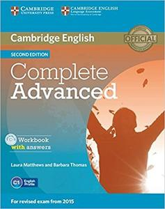 Obrázok Cambridge English Complete Advanced Workbook with answers Second edition