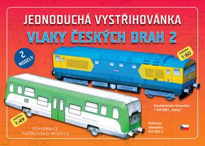 Obrázok Jednoduchá vystřihovánka Vlaky českých drah 2