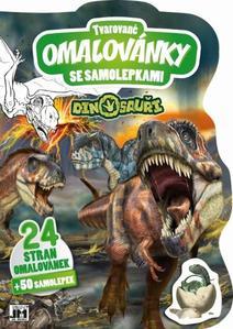 Obrázok Tvarované omalovánky se samolepkami Dinosauři