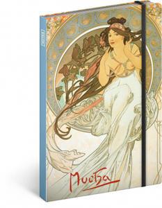 Obrázok Notes Alfons Mucha Hudba nelinkovaný