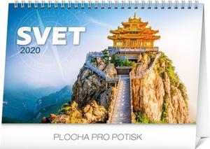 Obrázok Stolový kalendár Svet 2020