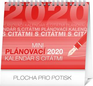 Obrázok Stolový kalendár Plánovací s citátmi 2020