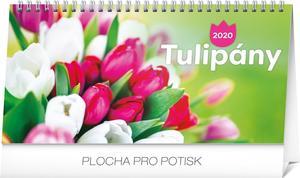 Obrázok Stolový kalendár Tulipány riadkový 2020