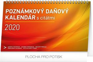 Obrázok Stolový kalendár Poznámkový daňový s citátmi 2020