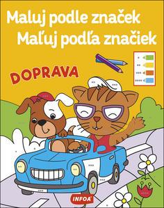 Obrázok Maluj podle značek/Maľuj podľa značiek Doprava