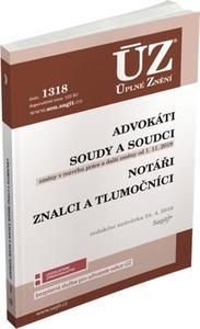 Obrázok ÚZ 1318 Advokáti, soudci a soudy, notáři, znalci a tlumočníci