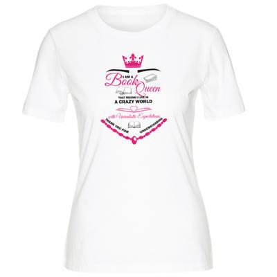 Obrázok Knihomolské dámské tričko Book Queen - velikost M