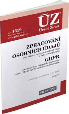 ÚZ 1319 Zpracování osobních údajů, GDPR