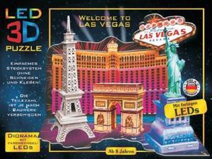 Obrázok LED 3D Puzzle Vítejte v Las Vegas