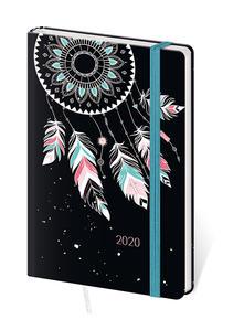 Obrázok Diář 2020 A6 LYRA týdenní s gumkou Feathers