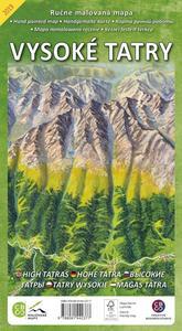 Obrázok Ručne maľovaná mapa Vysoké Tatry