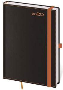 Obrázok Diář 2020 denní A5 Black Orange s poutkem na propisku