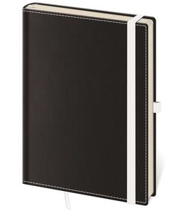 Linkovaný zápisník Black White L