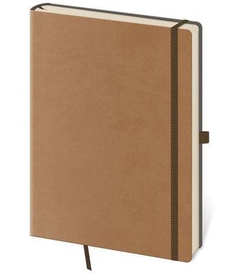 Obrázok Linkovaný zápisník Flexies M hnědý