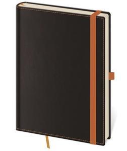 Linkovaný zápisník Black Orange M