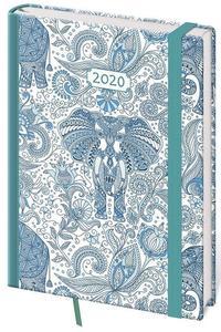 Obrázok Diář 2020 denní  A5 Vario Elefant s gumičkou