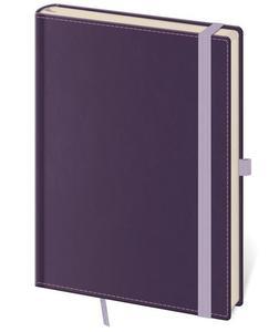 Linkovaný zápisník Double Violet M