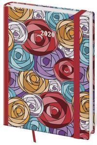 Obrázok Diář 2020 denní  A5 Vario Roses s gumičkou