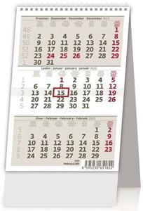 Obrázok Mini tříměsíční kalendář/Mini trojmesačný kalendár - stolní kalendář 2020