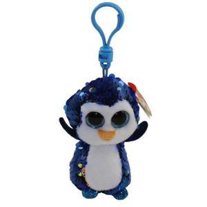 Obrázok Beanie Boos Flippables Payton přívěšek s flitry modrý tučňák 8.5 cm