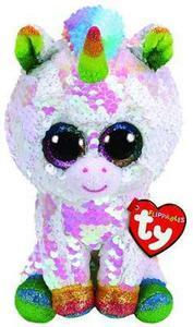 Obrázok Beanie Boos Flippables Pixy s flitry bílý jednorožec 15 cm