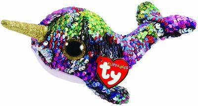 Obrázok Beanie Boos Flippables Calypso s flitry narval 15 cm