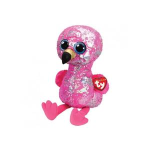 Obrázok Beanie Boos Flippables Pinky s flitry plameňák 42 cm