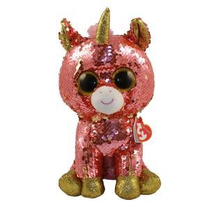 Obrázok Beanie Boos Flippables Sunset růžový jednorožec 24 cm