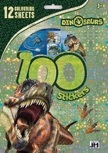 Obrázok 100 samolepek Dino