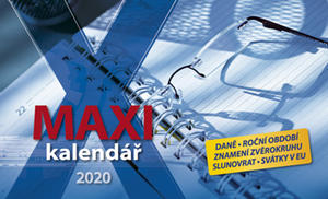 Obrázok Maxi kalendář 2020 - stolní kalendář