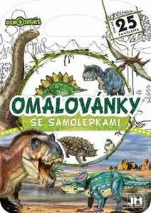 Obrázok Omalovánky se samolepkami Dinosauři