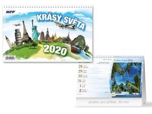Obrázok Krásy světa - stolní kalendář 2020