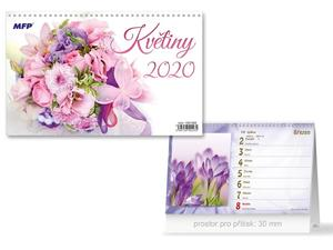 Obrázok Květiny - stolní kalendář 2020