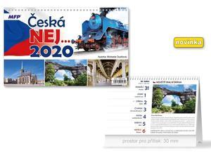 Obrázok Česká NEJ - stolní kalendář 2020