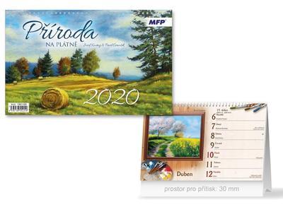 Obrázok Příroda na plátně - stolní kalendář 2020
