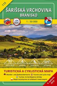Obrázok Šarišská vrchovina Branisko 1:50 000