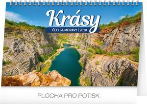 Obrázok Krásy Čech a Moravy - stolní kalendář 2020
