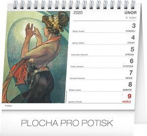 Obrázok Alfons Mucha - stolní kalendář 2020