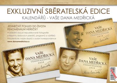 Obrázok Sběratelská edice Vaše Dana Medřická - stolní kalendáře 2018, 2019 a 2020