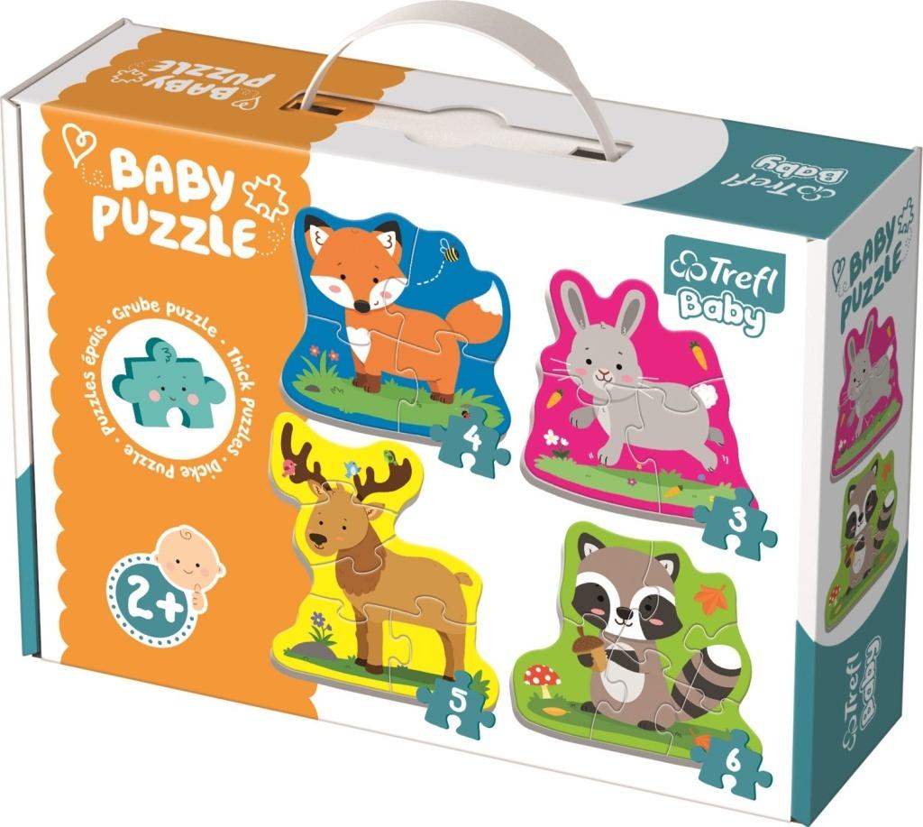 Baby puzzle Zvířata v lese 4v1