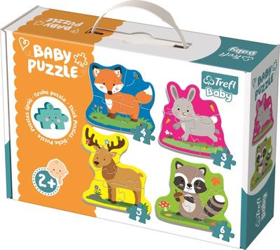 Obrázok Baby puzzle Zvířata v lese 4v1