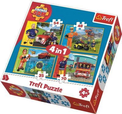 Obrázok Puzzle Požárník Sam v akci 4v1