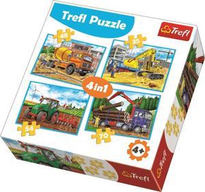 Obrázok Puzzle Pracovní stroje 4v1