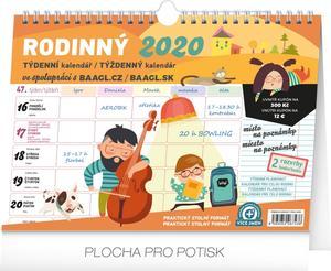 Obrázok Týdenní rodinný plánovací kalendář 2020