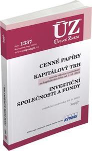 Obrázok ÚZ 1337 Cenné papíry, Kapitálový trh, Investiční společnosti a fondy